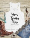 Western White Tank Top Mock Up Southern Bella Canvas 8800 Etsy