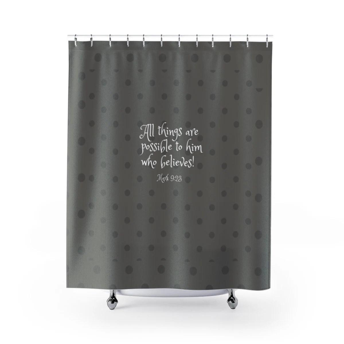 bible verse shower curtain christian shower curtain inspirational bath set scripture shower curtain religious bath set