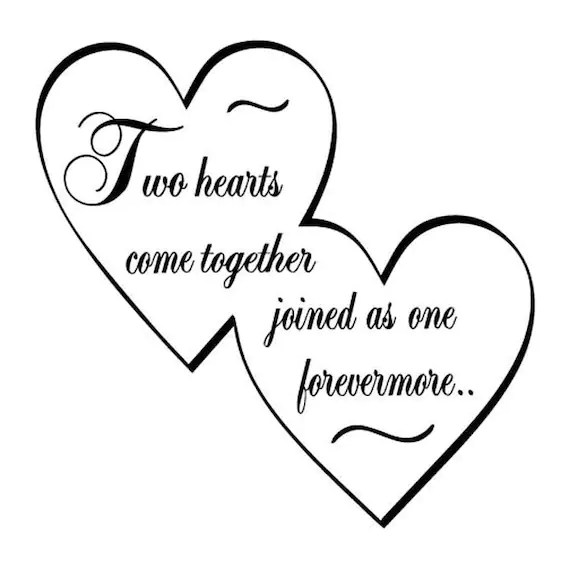 Download Two Hearts come together joined as one forevermore SVG ...