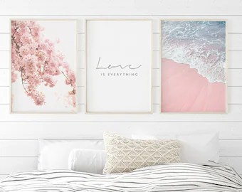 Pink Bedroom Decor Etsy