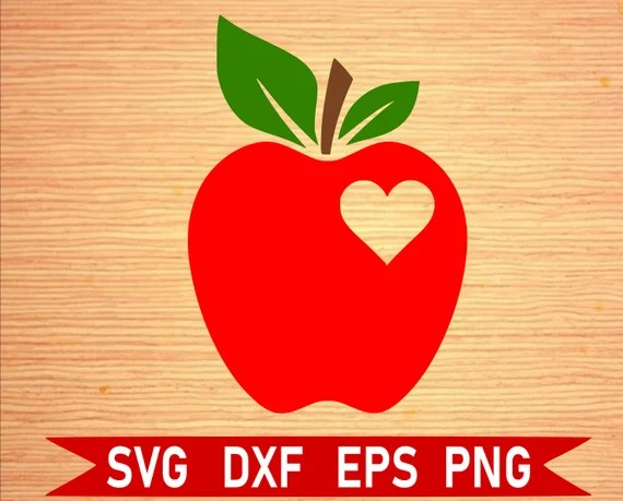 Download Apple with a Heart SVG Back to School SVG School svg | Etsy