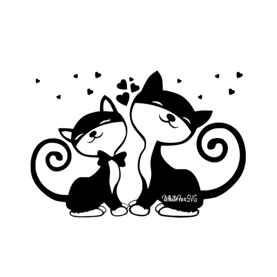 Download Cat Love Music Notes Svg