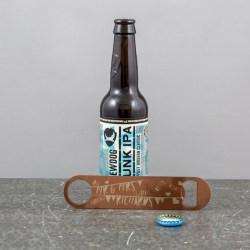 Personalised Bar Blade Copper Colour Vintage Bunting Bottle Etsy