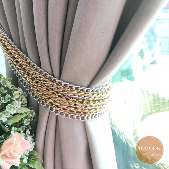 gray and gold curtain tie backs modern chain tieback light gray decor luxury gray curtains gorgeous grey living room decor set of 2