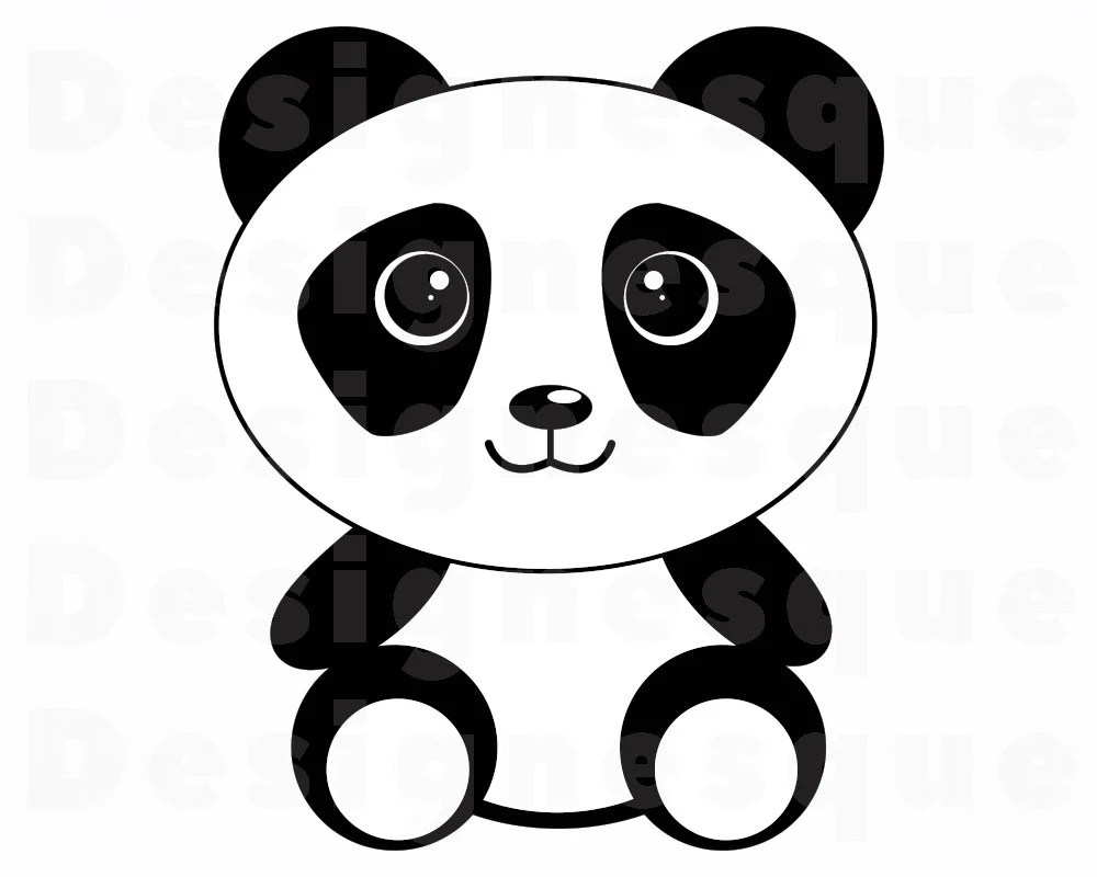 Panda SVG Cute Panda SVG Cartoon Panda Svg Panda Clipart