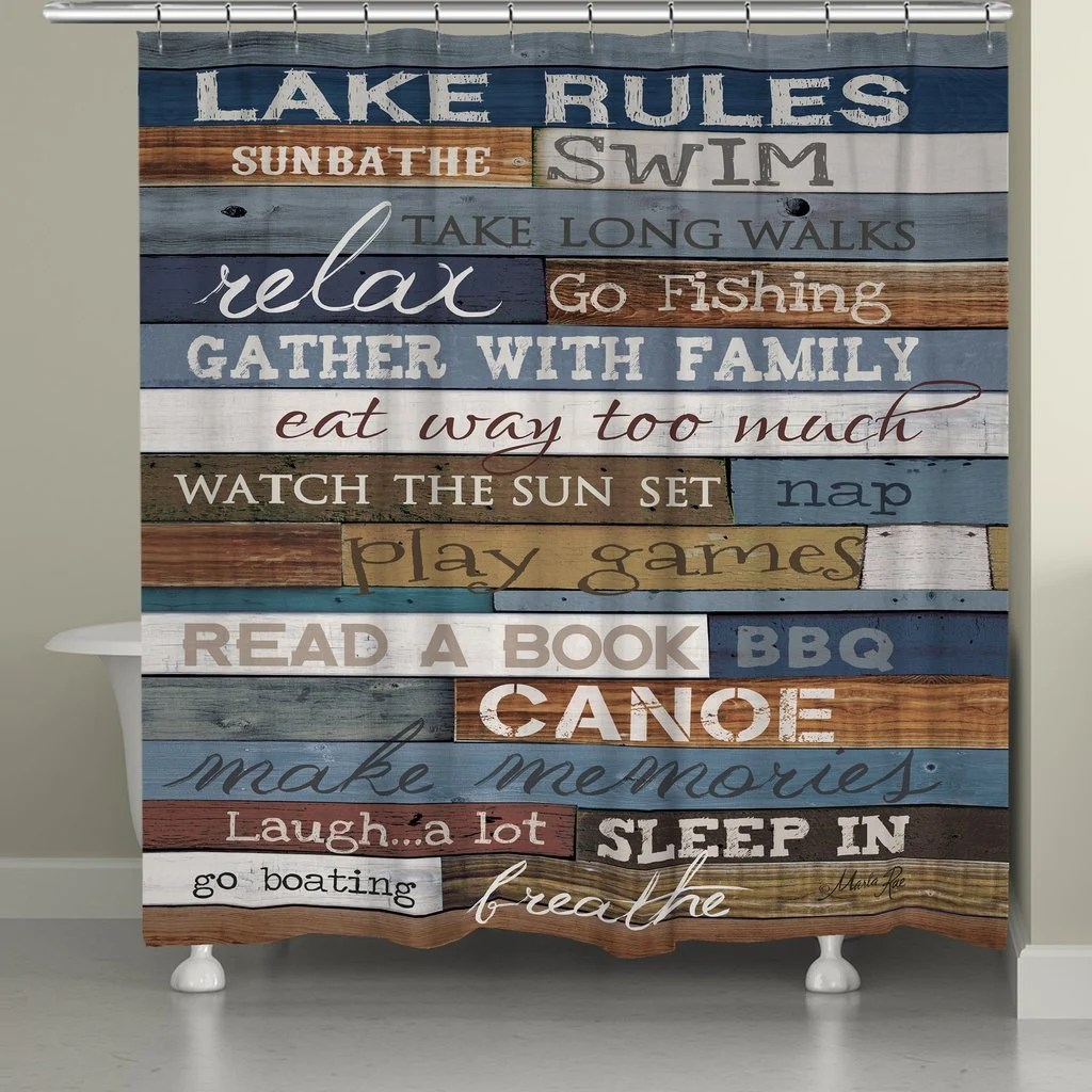 rules shower curtain etsy