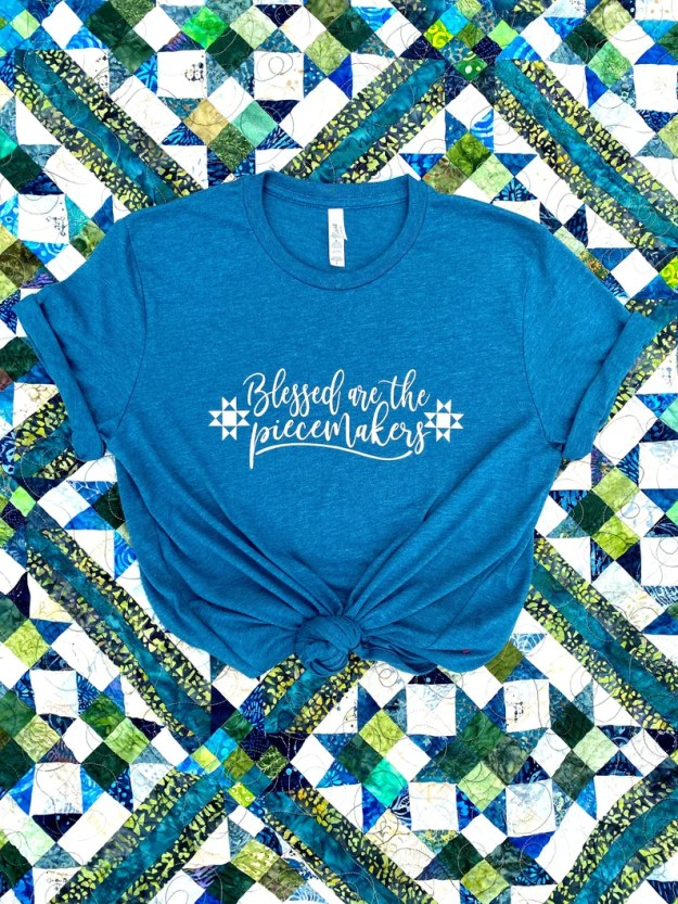 Blessed are the Piecemakers  Graphic Tee  Quilter Tee  image 0
