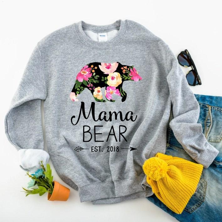 Mama Bear Sweatshirt - Pe...