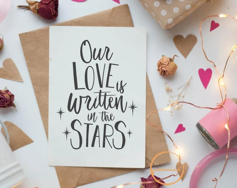 Download Our Love Story SVG Cut Files Written In The Stars Love ...