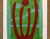 "ORIGINAL MONOPRINT: ""Organ Pipe"" 