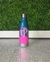 Customized Bottle Water Bottle Ombre Glitter Bottle Resin Etsy