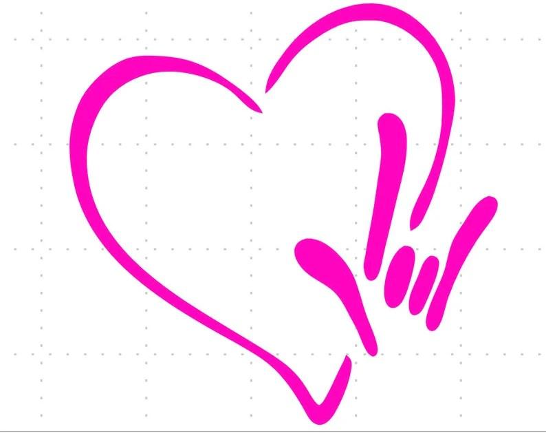 Download ASL Love SVG DOWNLOAD | Etsy