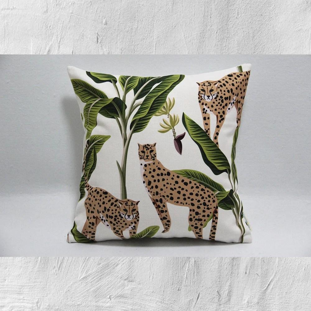 12x18 panther printed pillow cover set