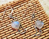 Moonstone Dangle Earrings | Rainbow | 925 Silver | Handmade | Boho | Gifts For Her | Unique | Mother's Day | Maternity | Baby Shower | Love