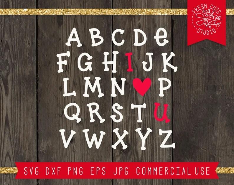 Download ABC I Love You Svg Cut File for Cricut ABC Svg Alphabet ...