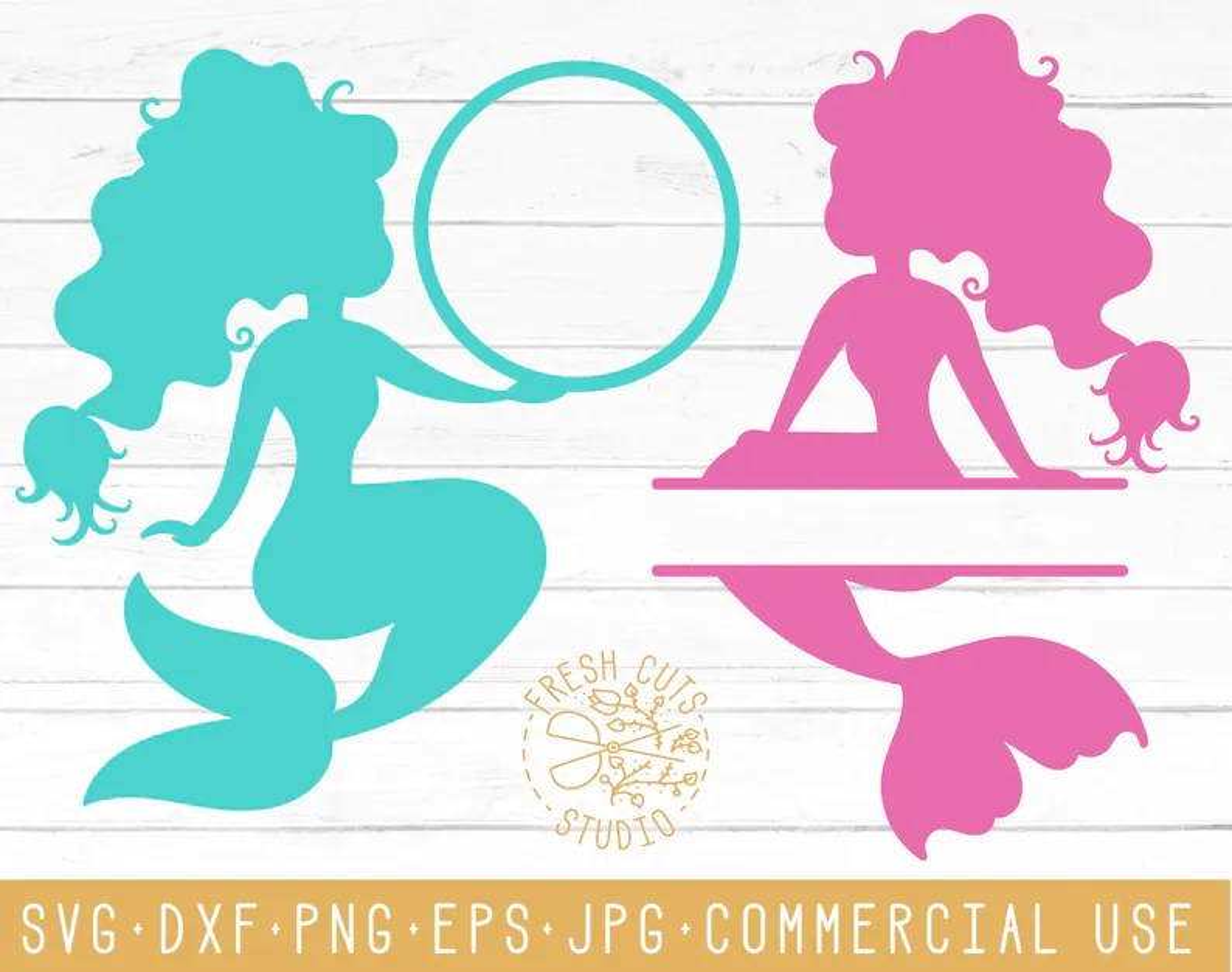 Monogram Mermaid Frame Black
