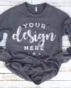 Bella Canvas 3901 Sweatshirt Mockup Dark Gray Marbletemplate Etsy