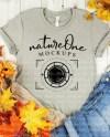 Fall Bella Canvas 3001 Heather Stone Mockup Unisex T Shirt Etsy