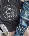 T Shirt Mockup Ladies Shirt Mock Up Bella Canvas Gray Etsy