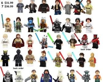 Lego Star Wars Minifigures Etsy
