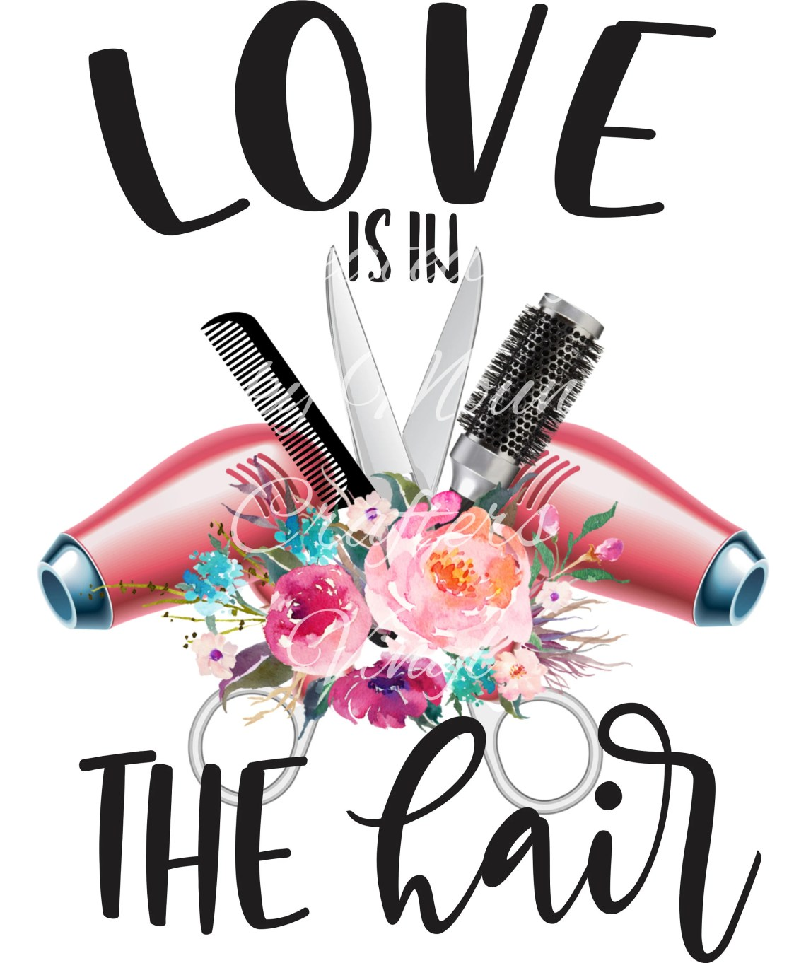 Download Love Is In The Hair Sublimation Designs PNG Digital | Etsy