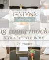 Living Room Stock Photo Interior Stock Blank Wall Poster Etsy