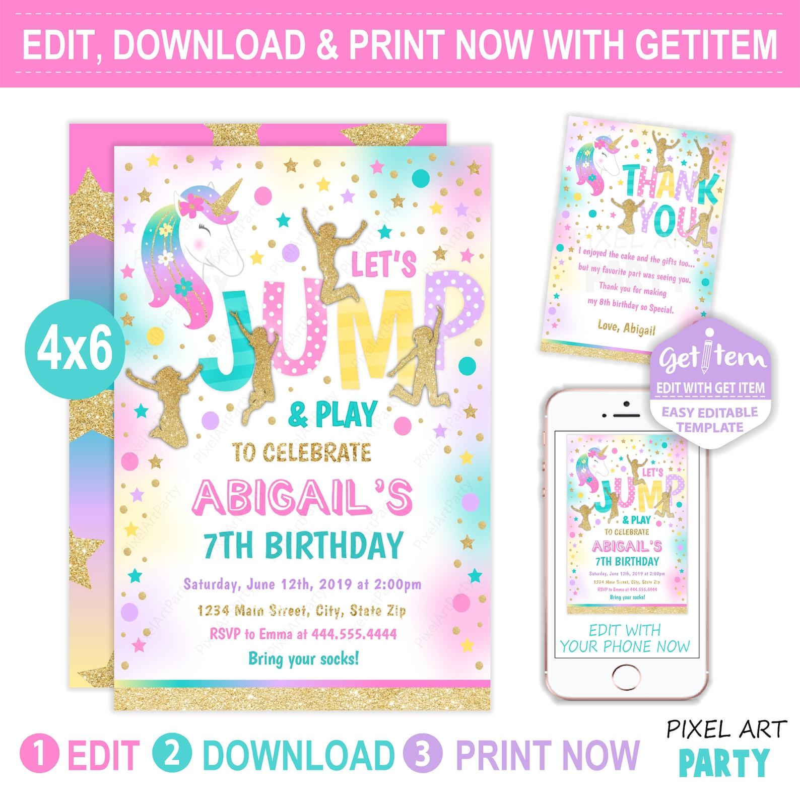 printable unicorn invitations page six