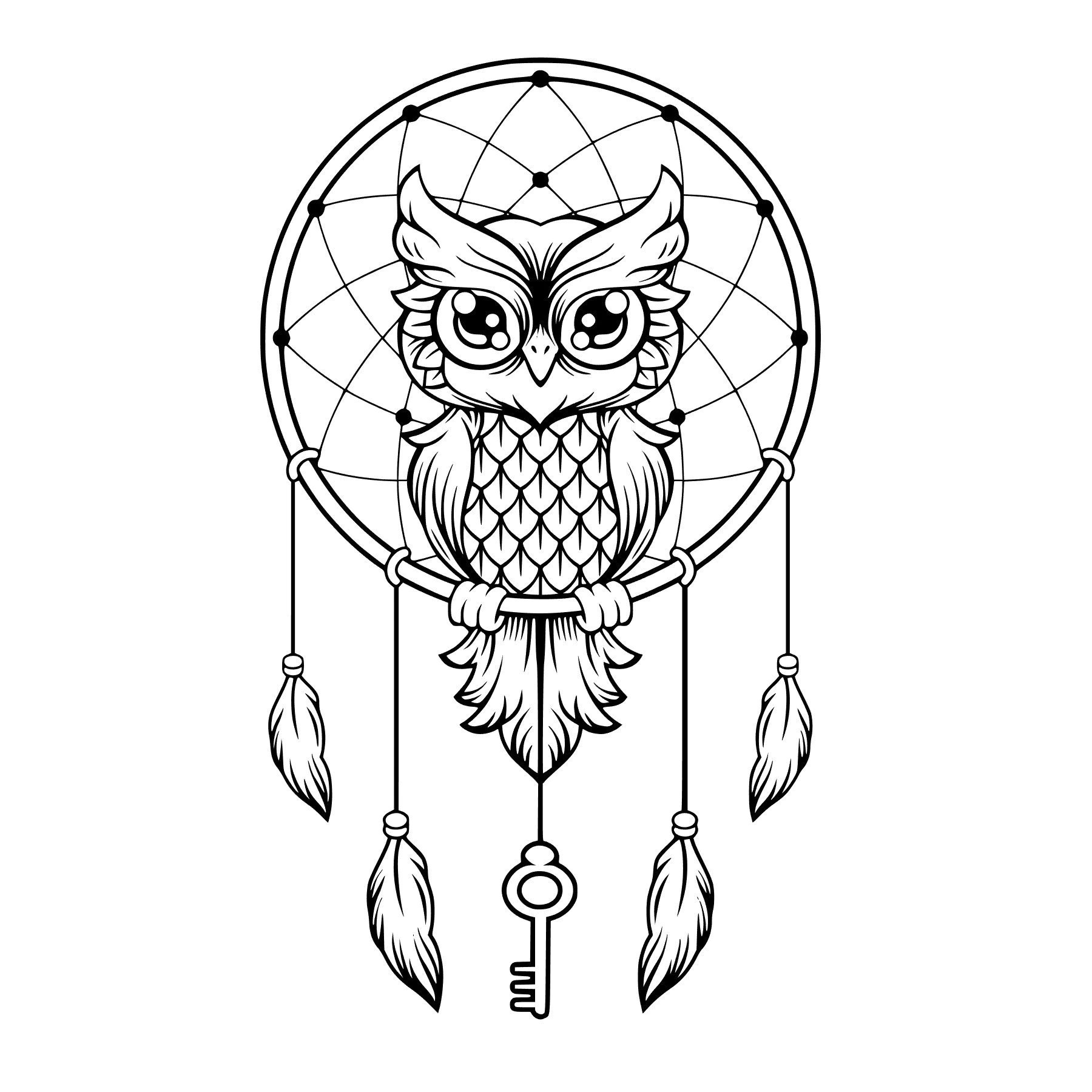 Owl Dreamcatcher Svg Studio Silhouette File