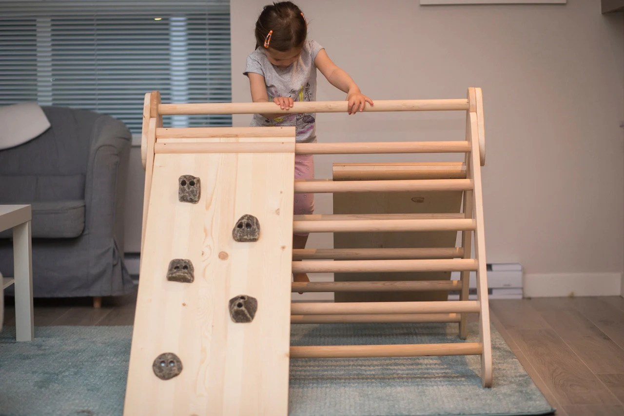 Reversible Pikler Ramp only ladder and slide or climbing wall image 2