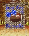 Blue And White Fall Football Game Day Garden Flag Sublimation Etsy