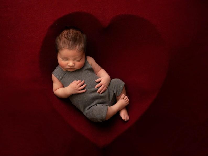 Khaki Bean Bag blanket for newborn photography baby posing