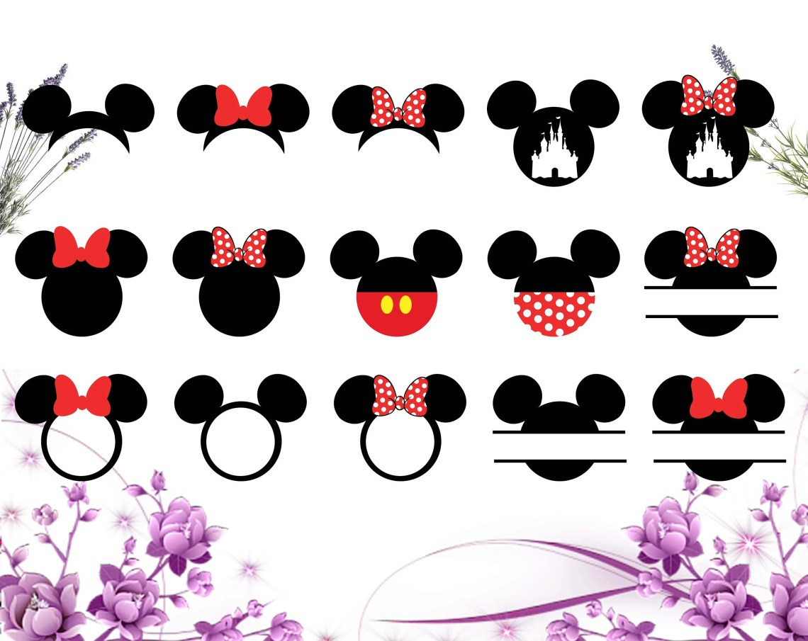 Download Mickey svg file/ Mickey mouse svg dxf png/ Printable/ SVG ...