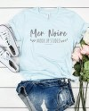 Bella Canvas Mockup 3413 Ice Blue Triblend Knotted Shirt Etsy
