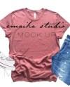 Mauve Shirt Mockup Bella Canvas 3001 T Shirt Flatlay Mauve Etsy