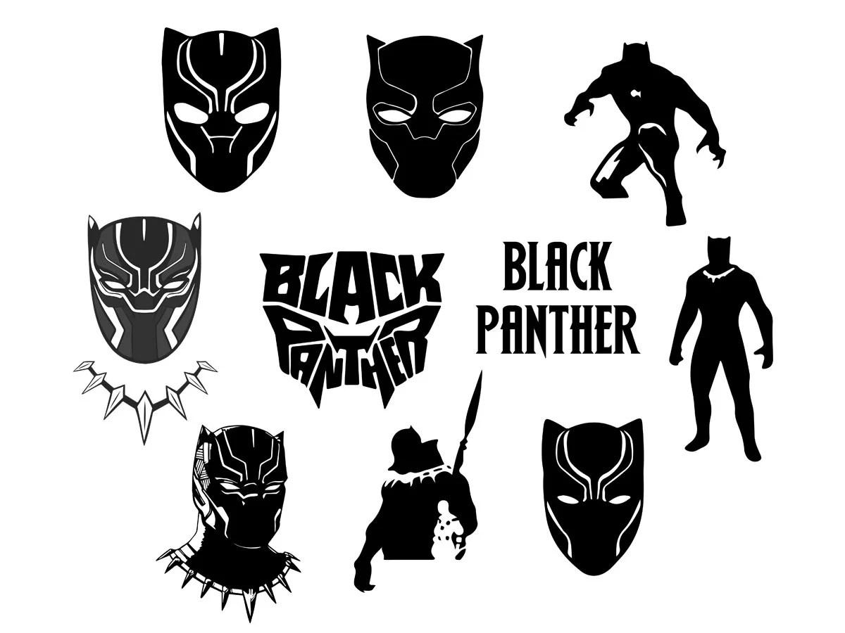 Black Panther Svg Dxf Eps Svg Cut Files Cricut