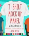 Tshirt Mock Ups Vector Clip Art Digital Clip Art Svg Etsy