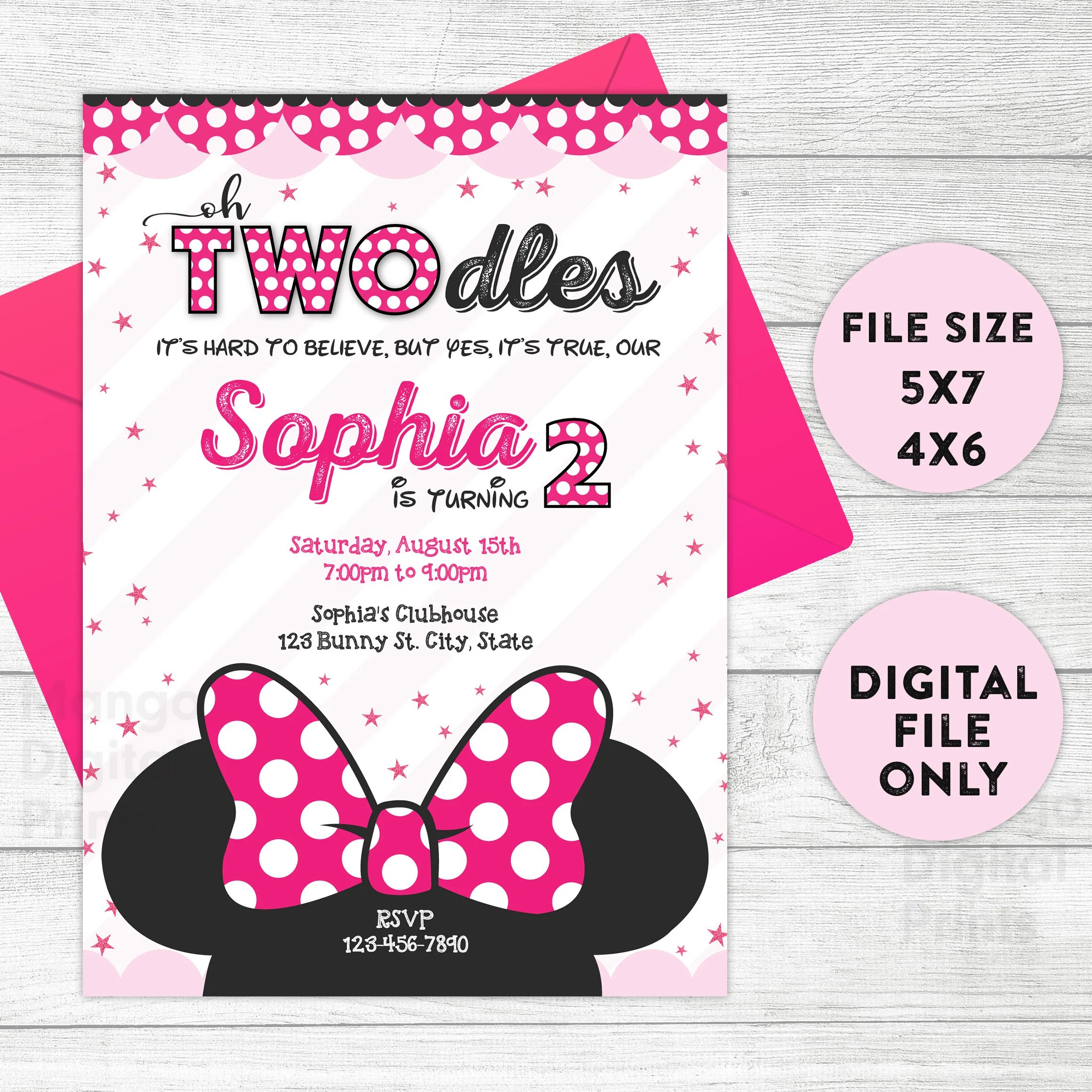 minnie mouse twodles birthday invitation twodles invite twodles invitation two dles diy template printable editable instant download