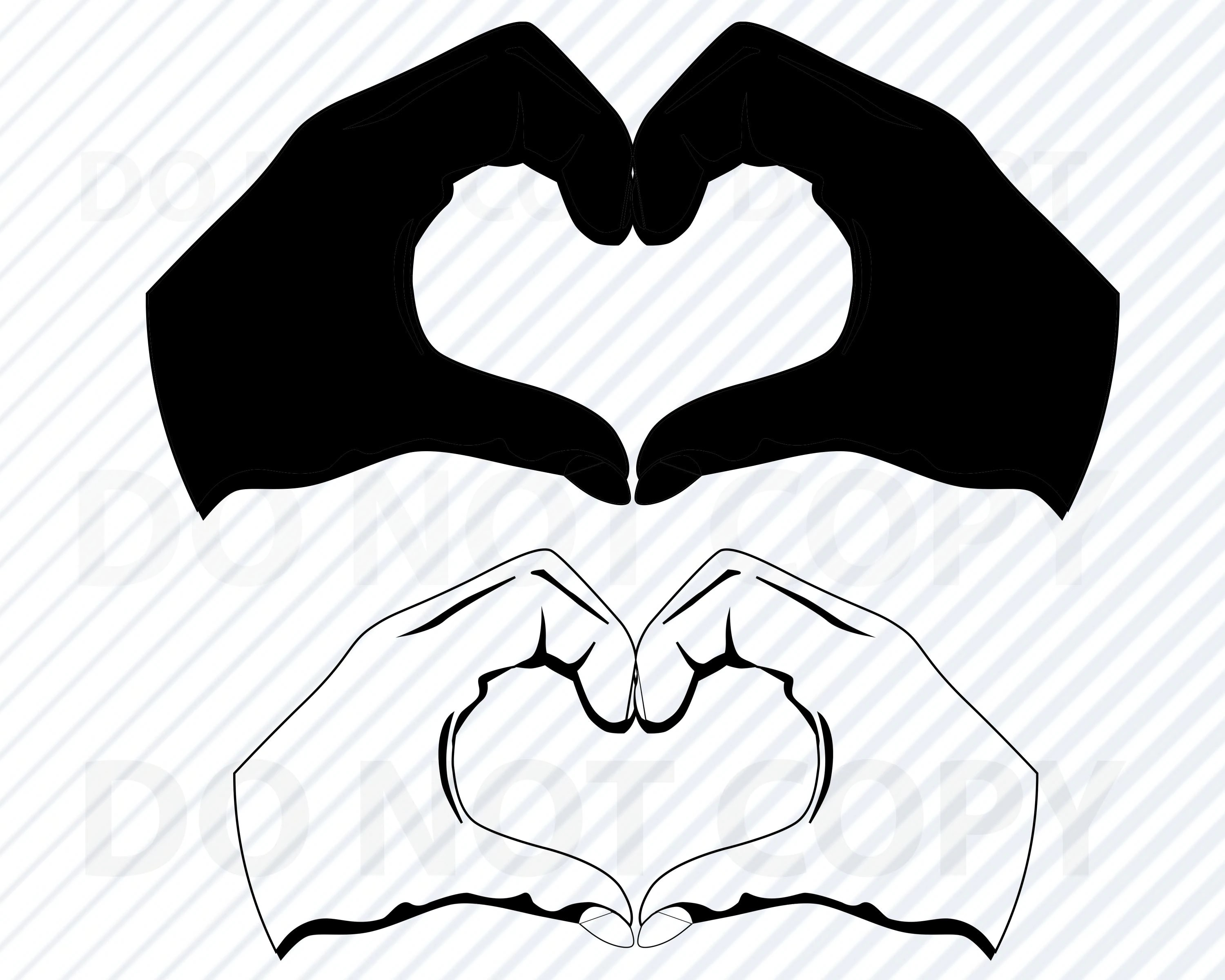 Heart Hands Svg File For Cricut Heart Vector Images