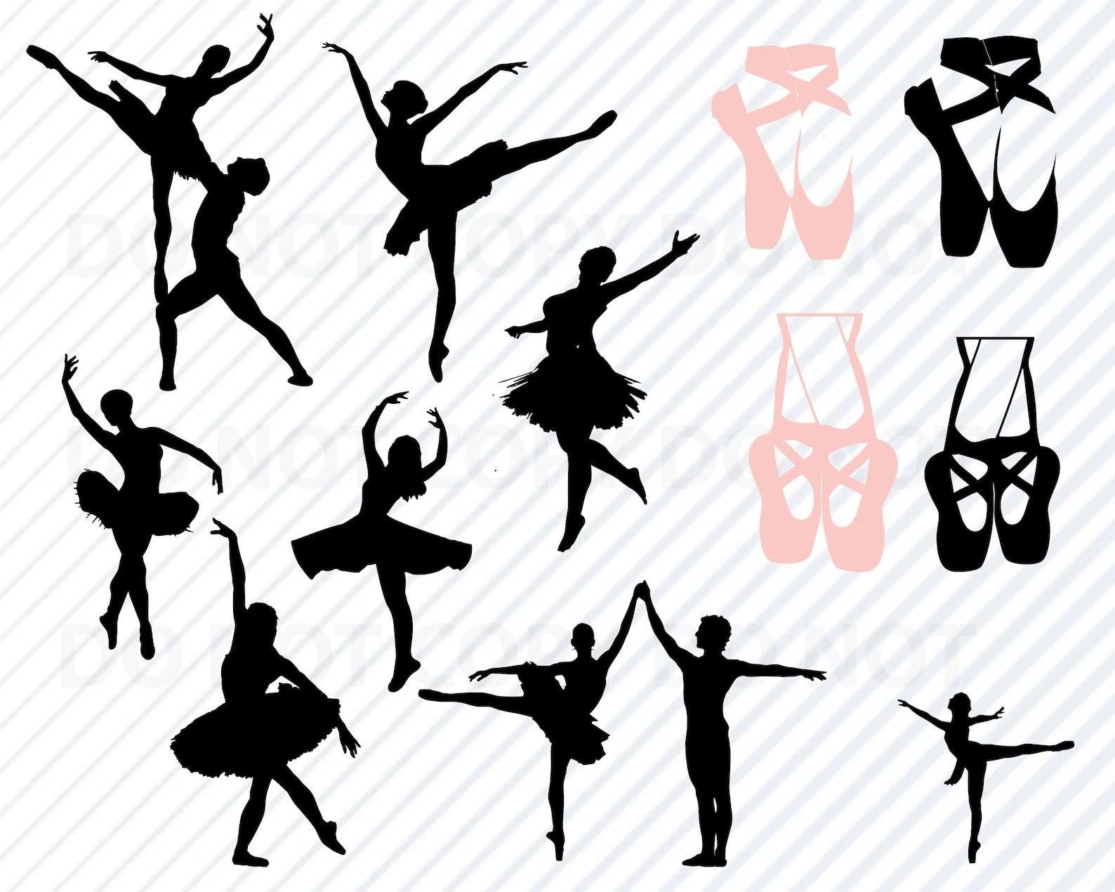 Ballet Svg Ballet Svg Bundle Silhouette Clip Art Ballet