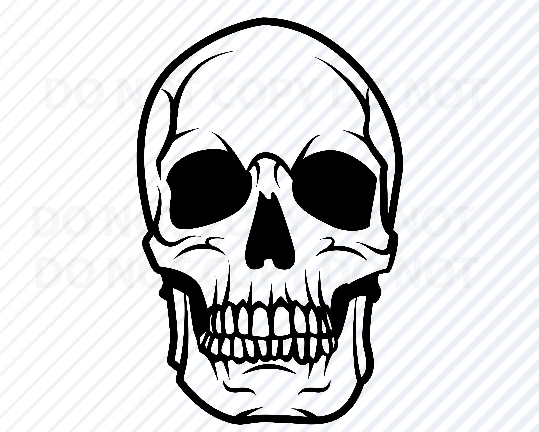 Skull Svg Human Skull Vector Images Silhouette Clip Art