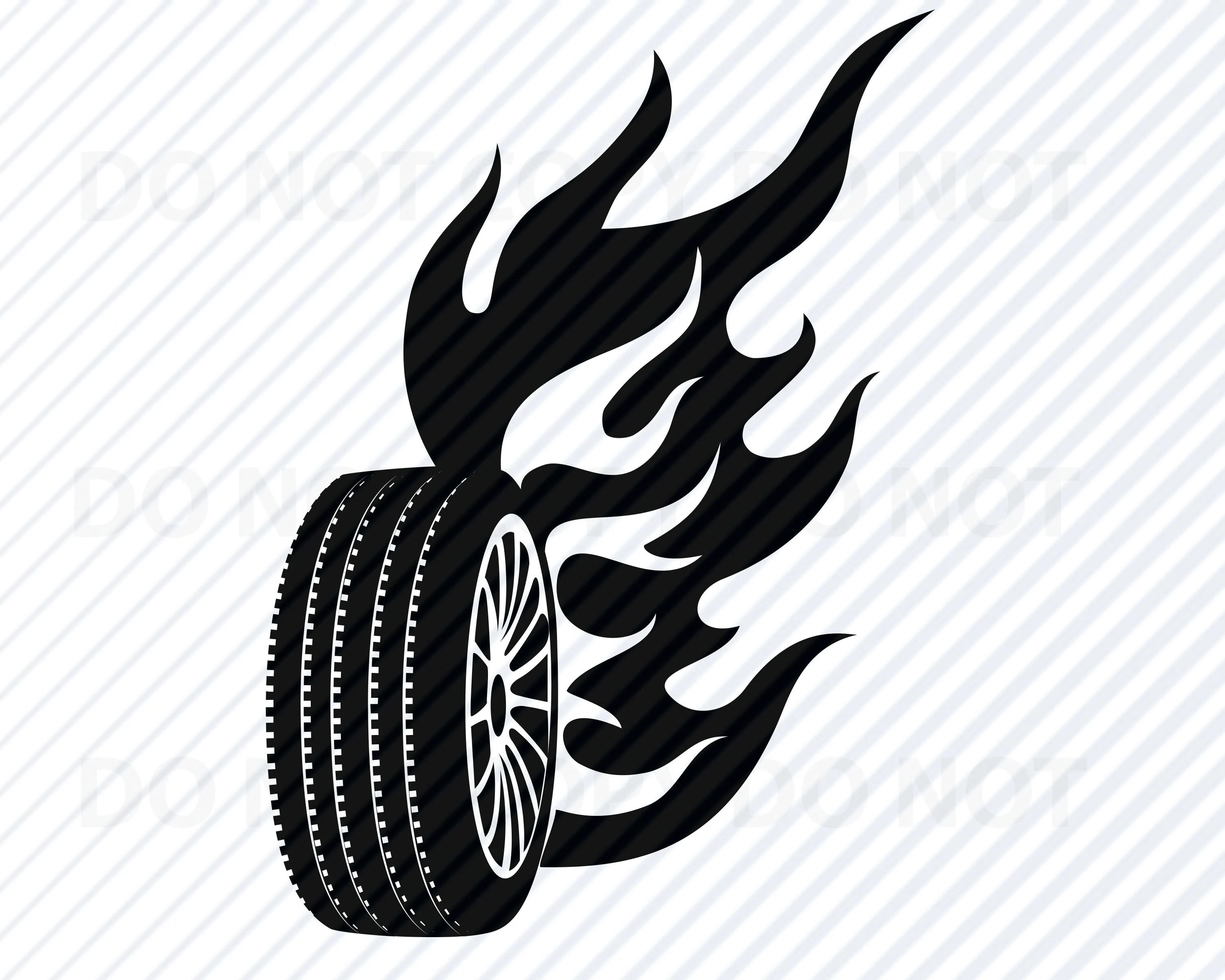 Car Tire Svg Files For Cricut Vector Images Silhouette
