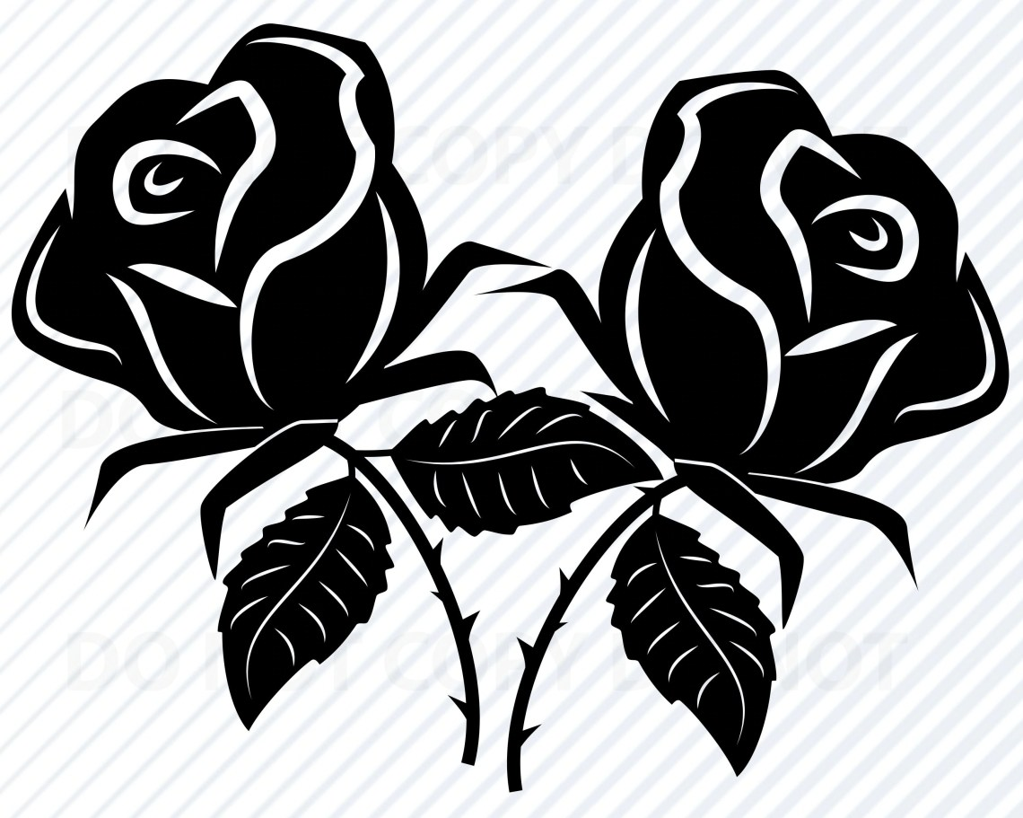Download Roses SVG Files for cricut Flower Vector Images Clipart | Etsy