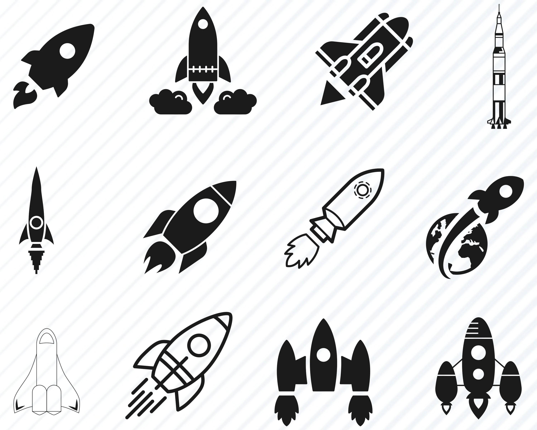 Rocket Svg Bundle Rocket Ship Vector Images Silhouette
