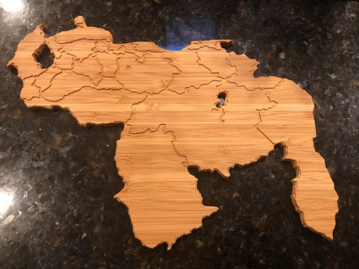 Beautiful Bamboo Venezuela Map Cutting Board
