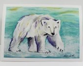 Greeting card/ART card - Polar Bear