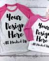 Next Level 6051 3352 Raglan Vin Pink Hot Pink T Shirt Etsy
