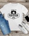 Bella Canvas 3001 White Tshirt Mockup Unisex Mock Up Flat Lay Etsy