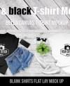 Black White Tshirt Mockup Bella Canvas Mock Up T Shirt Etsy