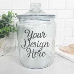 Fall Farmhouse Glass Jar Mockup Canister Mockup Kitchen Etsy