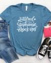 Bella Canvas 3001 Heather Deep Teal T Shirt Mock Up Shirt Etsy